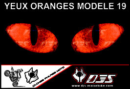 1 jeu de caches phares DJS pour KTM DUKE 790 2018-2021 microperforés qui laissent passer la lumière - référence : yeux modèle 19-