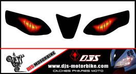 1 jeu de caches phares DJS pour Aprilia RSV4 2009-2013 microperforés qui laissent passer la lumière - référence : yeux modèle 6-