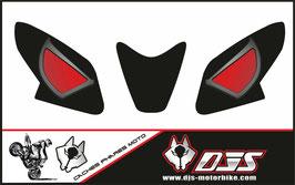 1 jeu de caches phares DJS pour APRILIA RSV4 2014-2020 microperforés qui laissent passer la lumière - référence : yeux modèle 14-