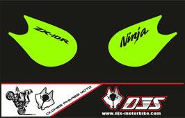 1 jeu de caches phares DJS pour Kawasaki zx10r 2006-2007 microperforé qui laissent passer la lumière - référence :zx10r-2006-2007-002-