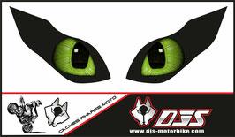 1 jeu de caches phares DJS pour KAWASAKI  ZX-6R-2009-2012 microperforés qui laissent passer la lumière - référence : yeux modèle 15-