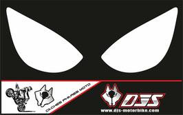 1 jeu de caches phares DJS pour Kawasaki zx6r microperforé qui laissent passer la lumière - référence : zx6r-2005-2006-blanc uni-