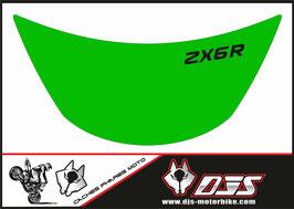 1 cache phare DJS pour Kawasaki zx6r microperforé qui laisse passer la lumière - référence : zx6r-1996-1999-006-
