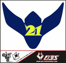 1 cache phare DJS pour Suzuki GSXR 600-750 2008-2010 microperforé qui laisse passer la lumière - référence : gsxr-600-750-2008-2010-040