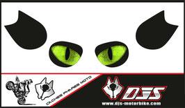 1 cache phare DJS pour Kawasaki ZZR 1400 2008-2012 microperforé qui laisse passer la lumière - référence : ZZR 1400 2008-2012--YEUX 019 VERT-