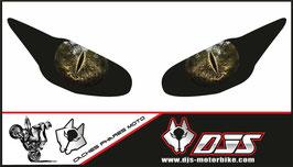 1 jeu de caches phares DJS pour Triumph daytona 2009-2012 microperforés qui laissent passer la lumière - référence : yeux modèle 5-