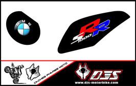 1 jeu de caches phares DJS pour BMW S1000RR microperforés qui laissent passer la lumière - référence : S1000RR-2009-2014-002