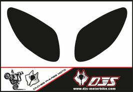 1 jeu de caches phares DJS pour Yamaha T MAX  2001-2008 microperforés qui laissent passer la lumière - référence : T MAX  2001-2008-fond noir uni-