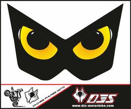 1 jeu de caches phares DJS pour Kawasaki Z1000 2003-2009 microperforés qui laissent passer la lumière - référence : Z1000-2003-2009-yeux 09 jaunes-