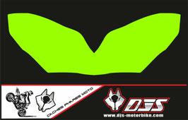 1 jeu de caches phares DJS pour Kawasaki ZX10R 2004-2005 microperforés qui laissent passer la lumière - référence : zx10r-2004-2005-couleur uni-