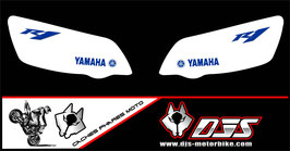 1 jeu de caches phares DJS pour Yamaha r1 de 2004-2006 microperforés qui laissent passer la lumière - référence : r1-2004-2006-006-