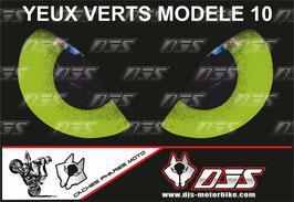 1 jeu de caches phares DJS pour KAWASAKI  ZX-6R-2009-2012 microperforés qui laissent passer la lumière - référence : yeux modèle 10-