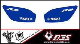 1 jeu de caches phares DJS pour YAMAHA r6 1999-2002 microperforés qui laissent passer la lumière - référence : r6-1999-2002-015
