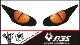 1 jeu de caches phares DJS pour Triumph daytona 2009-2012 microperforés qui laissent passer la lumière - référence : yeux modèle 8-