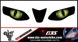 1 jeu de caches phares DJS pour Aprilia RSV4 2009-2013 microperforés qui laissent passer la lumière - référence : yeux modèle 1-