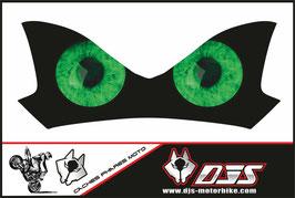 1 cache phare DJS pour Kawasaki Z900-2015-2020microperforé qui laisse passer la lumière - référence : Z900-2015-2020-yeux modèle 7-