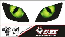 1 jeu de caches phares DJS pour KAWASAKI ZX-6R 2000-2002 microperforés qui laissent passer la lumière - référence : yeux modèle 1-
