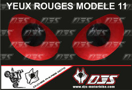 1 jeu de caches phares DJS pour Aprilia TUONO 2014-2020 microperforés qui laissent passer la lumière - référence : yeux modèle 11-
