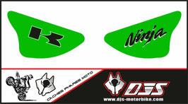 1 jeu de caches phares DJS pour Kawasaki zx6r microperforé qui laisse passer la lumière - référence : ZX6R-2003-2004-011-