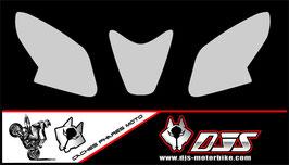 1 jeu de caches phares DJS pour Aprilia rsv4 2014-2016 microperforés qui laissent passer la lumière - référence : rsv4-2014-2016-fond gris uni