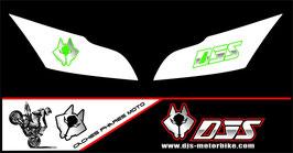 1 jeu de caches phares DJS pour Kawasaki ZX10R 2011-2015 microperforés qui laissent passer la lumière - référence : zx10r-2011-2015-017