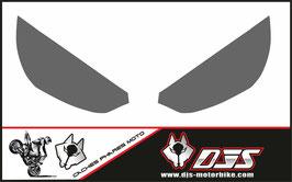 1 jeu de caches phares DJS pour Kawasaki Z1000 2015-2017 microperforés qui laissent passer la lumière - référence : z1000-2015-2017-couleur  uni-