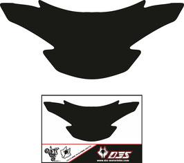 1 jeu de caches phares DJS pour SUZUKI GSR 750 2011-2017 microperforés qui laissent passer la lumière - référence : SUZUKI GSR 750 2011-2017-fond noir-