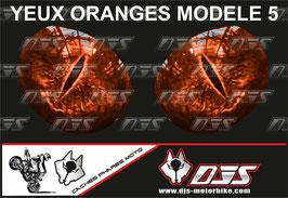1 jeu de caches phares DJS pour KTM DUKE 890 2020-2021 microperforés qui laissent passer la lumière - référence : yeux modèle 5-
