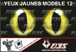 1 jeu de caches phares DJS pour  APRILIA TUONO V4-2011-2014 microperforés qui laissent passer la lumière - référence : yeux modèle 12-