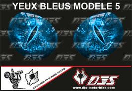 1 jeu de caches phares DJS pour YAMAHA YZF R 125 2008 - 2018 microperforés qui laissent passer la lumière - référence : YAMAHA YZF R 125 2008 - 2018-yeux modèle 5-