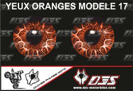 1 jeu de caches phares DJS pour KTM SUPERDUKE 1290 2017-2021 microperforés qui laissent passer la lumière - référence : yeux modèle 17-