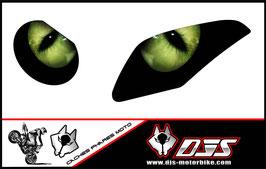 1 jeu de caches phares DJS pour  BMW S 1000 RR 2009-2014 microperforés qui laissent passer la lumière - référence : yeux modèle 1-
