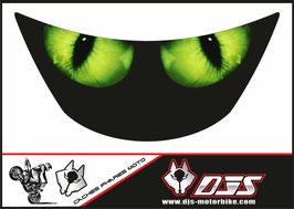 1 cache phare DJS pour Kawasaki zx6r microperforé qui laisse passer la lumière - référence : zx6r-1996-1999-yeux verts modèle 2-