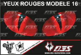 1 jeu de caches phares DJS pour  Honda CBR 600 RR 2008-2012 microperforés qui laissent passer la lumière - référence : yeux modèle 16-