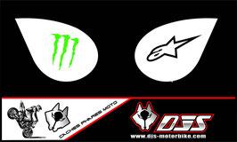 1 jeu de caches phares DJS pour Kawasaki zx6r microperforés qui laissent passer la lumière - référence : zx6-r-2007-2008-014