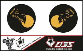 1 jeu de caches phares DJS pour Triumph speed triple microperforés qui laissent passer la lumière - référence : speed triple-2007-2010-007-