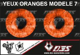 1 jeu de caches phares DJS pour  KTM DUKE 790 2018-2021 microperforés qui laissent passer la lumière - référence : yeux modèle 7-