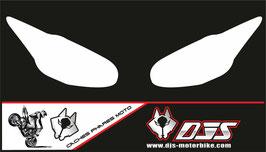 1 jeu de caches phares DJS pour Triumph daytona 2009-2012 microperforés qui laissent passer la lumière - référence : daytona-2009-2012-blanc uni-