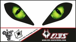 1 jeu de caches phares DJS pour YAMAHA RAPTOR  microperforés qui laissent passer la lumière - référence : RAPTOR-004