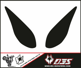 1 jeu de caches phares DJS pour yamaha T-MAX 2008-2011 microperforés qui laissent passer la lumière - référence : T-MAX-2008-2011-fond noir-