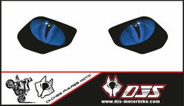 1 jeu de caches phares DJS pour YAMAHA MT 10 2015-2021 microperforés qui laissent passer la lumière - référence : YAMAHA MT 10 2015-2021-yeux modèle 16-