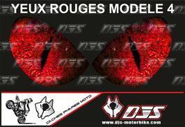 1 jeu de caches phares DJS pour   Honda CBR 600 RR 2008-2012 microperforés qui laissent passer la lumière - référence : yeux modèle 4-