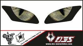 1 jeu de caches phares DJS pour Yamaha r6 2006-2016 microperforés qui laissent passer la lumière - référence : Yamaha r6 2006-2016-yeux modèle 3-