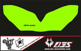 1 jeu de caches phares DJS pour Kawasaki ZX10R 2004-2005 microperforés qui laissent passer la lumière - référence : zx10r-2004-2005-004-
