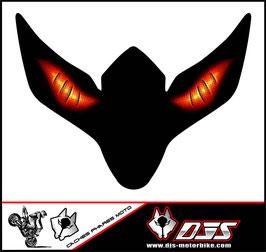 1 cache phare DJS pour SUZUKI GSX-R 600-750 2008-2010 microperforé qui laisse passer la lumière - référence : yeux modèle 6-