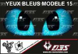 1 jeu de caches phares DJS pour yamaha yzf r 125  microperforés qui laissent passer la lumière - référence : yamaha yzf r 125 2019-2021-yeux modèle 15-