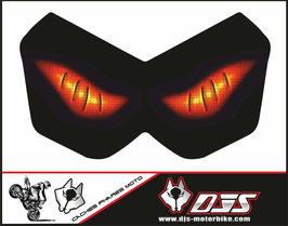1 cache phare DJS pour Kawasaki Z750-2004-2006 microperforé qui laisse passer la lumière - référence : Kawasaki Z750-2004-2006-yeux modèle 6-