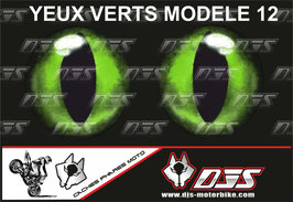 1 jeu de caches phares DJS pour  KAWASAKI  ZX-6R-2009-2012 microperforés qui laissent passer la lumière - référence : yeux modèle 12-