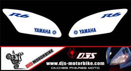 1 jeu de caches phares DJS pour Yamaha r6 2006-2016 microperforés qui laissent passer la lumière - référence : r6-2006-2016-005