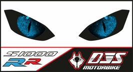1 jeu de caches phares DJS pour  BMW S 1000 RR 2019-2021 microperforés qui laissent passer la lumière - référence : yeux modèle 4-